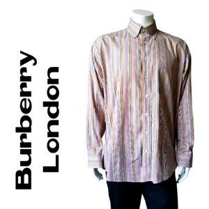 Burberry London 100% Cotton Button Down Shirt - L
